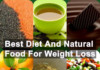 best Diet and natural food for weight loss