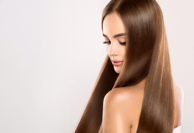 silky and shiny hair